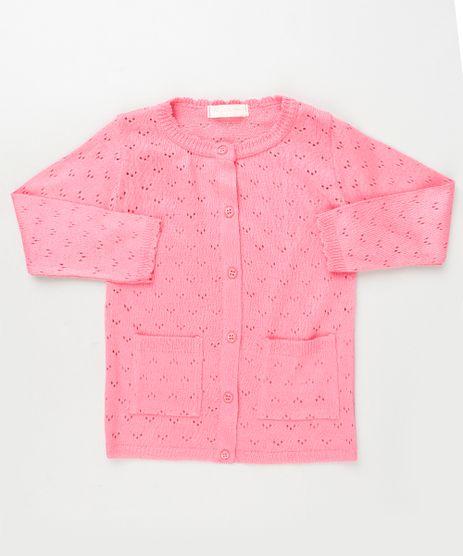 Cardigan-Infantil-em-Trico-Texturizado-com-Bolsos-Pink-9933966-Pink_1