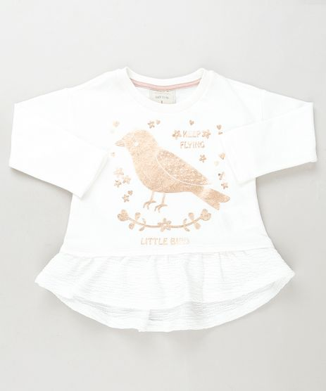 Blusa-Infantil-Passarinho-com-Brilho-e-Babado-Manga-Curta--Branca-9936530-Branco_1