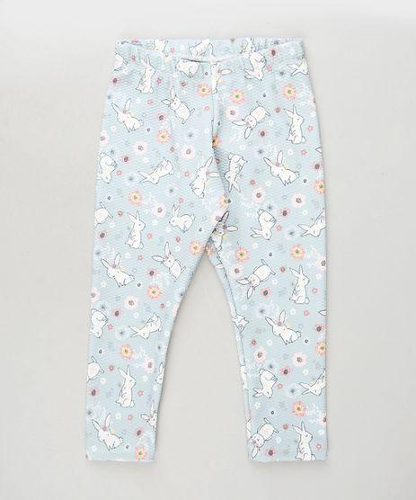 Calca-Legging-Infantil-Estampada-Floral-com-Coelhos-Azul-Claro-9917591-Azul_Claro_1
