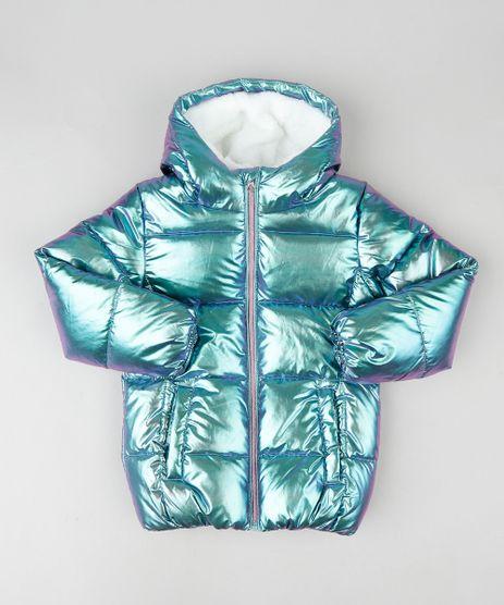 Jaqueta-Puffer-Infantil-Metalizada-com-Capuz-e-Pelo-Verde-Agua-9809165-Verde_Agua_1