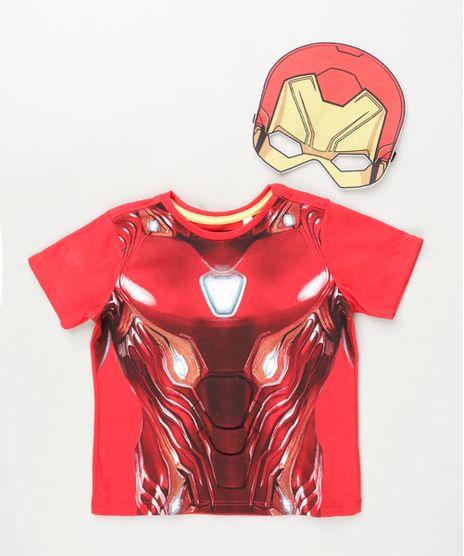 Camiseta-Infantil-Homem-de-Ferro-Manga-Curta-com-Mascara-Vermelha-9946501-Vermelho_1