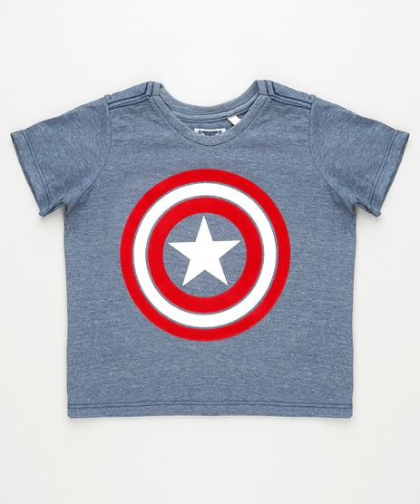 Camiseta-Infantil-Capitao-America-Manga-Curta-Azul-9924903-Azul_1