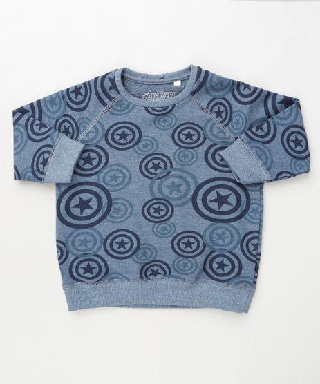 Blusao-Infantil-Capitao-America-em-Moletom--Azul-Escuro-9871529-Azul_Escuro_1
