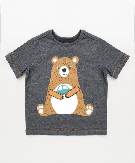 Camiseta-Infantil-Urso-com-Carrinho-Manga-Curta-Chumbo-9910444-Chumbo_1
