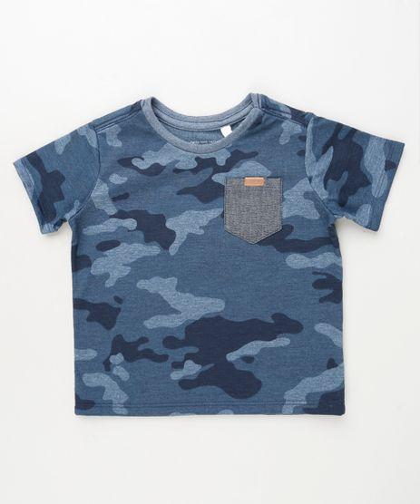 Camiseta-Infantil-Estampada-Camuflada-com-Bolso-Manga-Curta-Azul-Escuro-9871533-Azul_Escuro_1