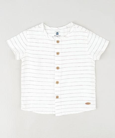 Camisa-Infantil-Listrada-Manga-Curta-Branca-9842885-Branco_1