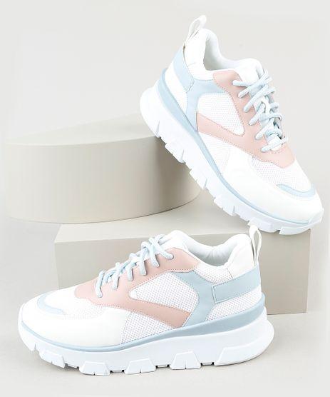 Tenis-Feminino-Oneself-Running-com-Recortes-Branco-9943069-Branco_1