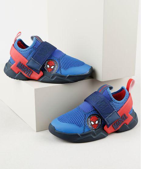Tenis-Infantil-Grendene-Homem-Aranha-com-Velcro-Azul-9912245-Azul_1