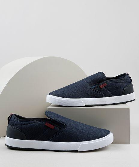 Tenis-Slip-On-Jeans-Masculino-Oneself-Azul-Escuro-9924408-Azul_Escuro_1
