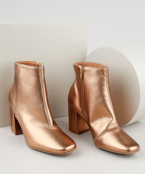 Bota-Feminina-Oneself-Cano-Curto-Salto-Medio-Bico-Quadrado-Metalizada-Dourada-9944708-Dourado_1