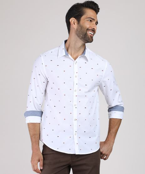 Camisa-Masculina-Comfort-Estampada-Mini-Print-de-Bandeiras-Manga-Longa-Branca-9809569-Branco_1