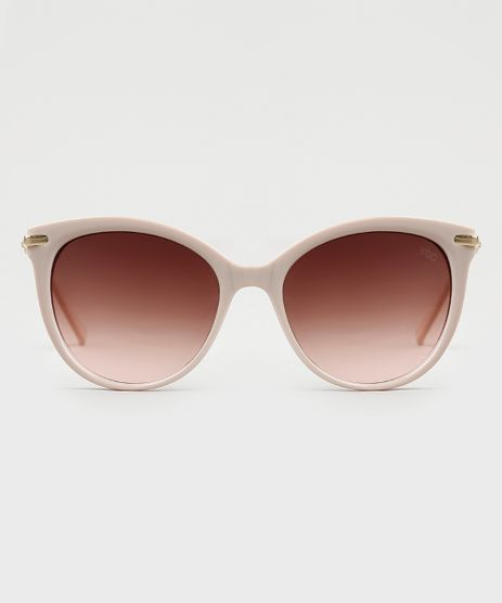 Oculos-de-Sol-Redondo-Feminino-Yessica-Bege-Claro-9946529-Bege_Claro_1