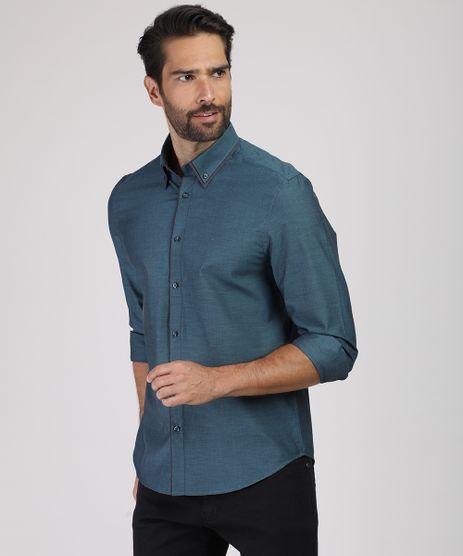 Camisa-Masculina-Comfort-Maquinetada-Manga-Longa-Azul-Petroleo-9813621-Azul_Petroleo_1