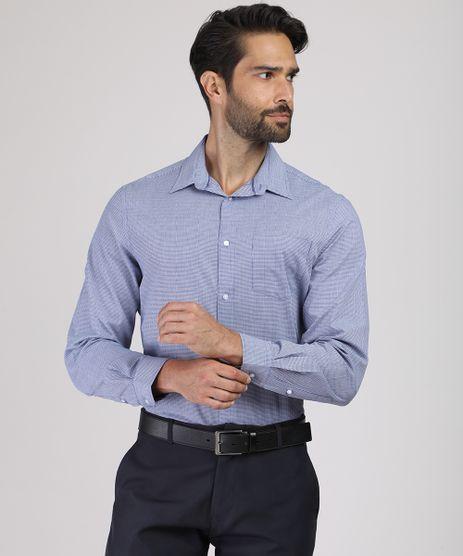 Camisa-Masculina-Comfort-Estampada-Xadrez-com-Bolso-Manga-Longa-Azul-9831772-Azul_1