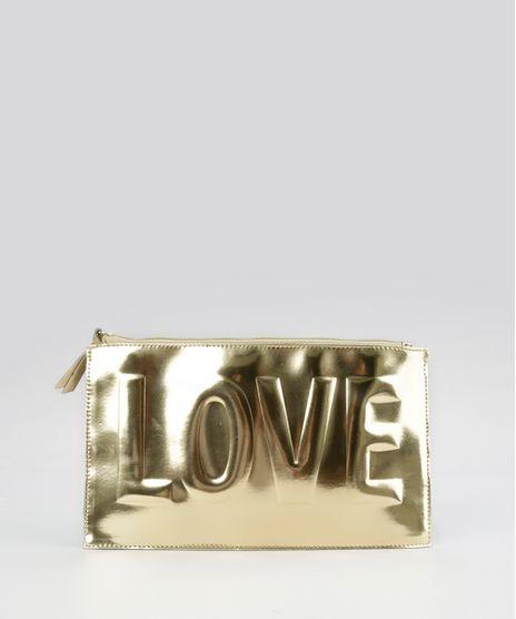 Necessaire--LOVE---Metalizada-Dourada-8617670-Dourado_1