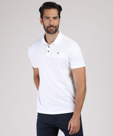 Polo-Masculina-Comfort-em-Piquet-com-Bolso-Manga-Curta-Off-White-9640963-Off_White_1