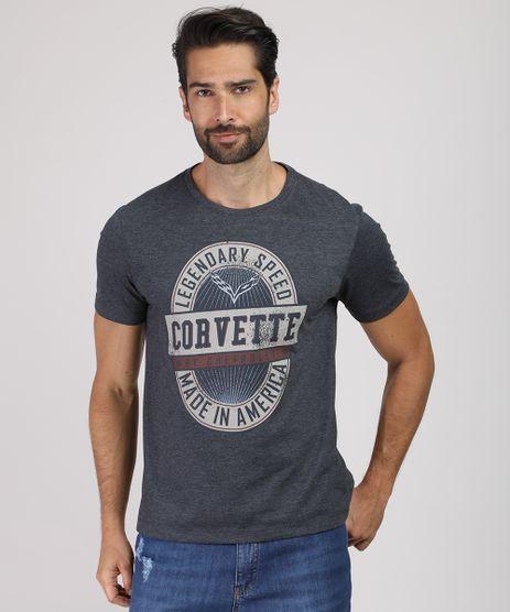 Camiseta-Masculina-Corvette-Manga-Curta-Gola-Careca-Cinza-Mescla-Escuro-9331671-Cinza_Mescla_Escuro_1