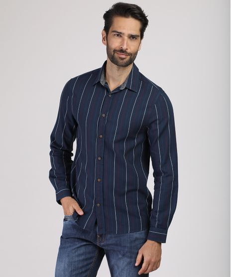 Camisa-Masculina-Slim-Listrada-Manga-Longa-Azul-Marinho-9809557-Azul_Marinho_1
