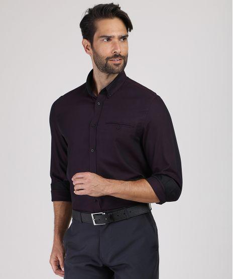 Camisa-Social-Masculina-Comfort-com-Bolso-Manga-Longa-Roxa-9831769-Roxo_1