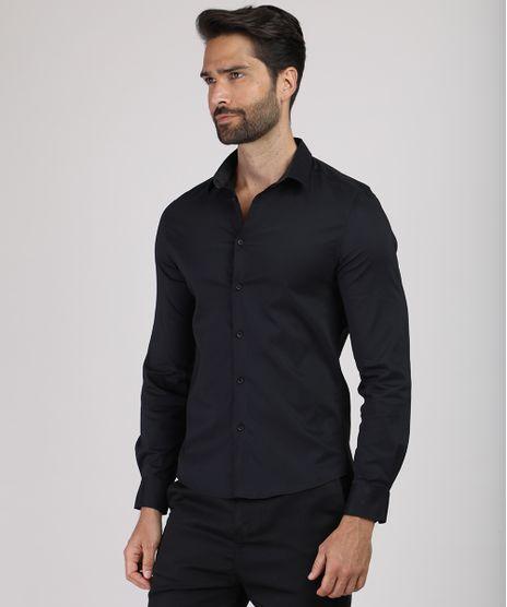 Camisa-Masculina-Super-Slim-Manga-Longa-Preta-9663547-Preto_1