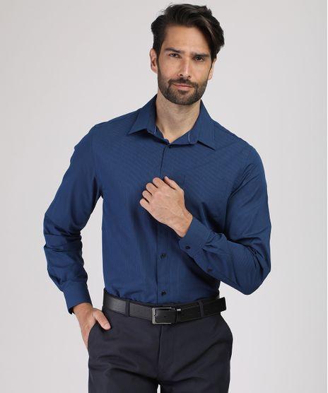 Camisa-Social-Masculina-Comfort-Listrada-com-Bolso-Manga-Longa-Azul-Marinho-9831771-Azul_Marinho_1