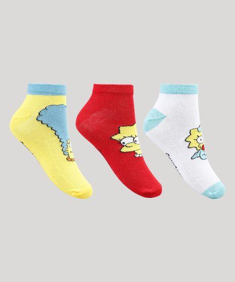 Kit-de-3-Meias-Femininas-Os-Simpsons-Multicor-9856789-Multicor_1