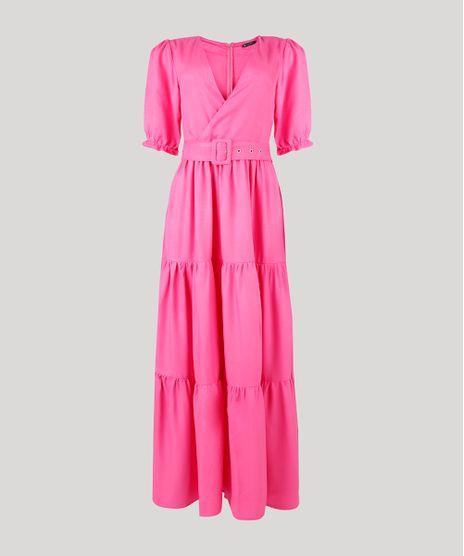 Vestido-Feminino-Mindset-Longo-com-Recortes-e-Cinto-Manga-Bufante-Pink-9948779-Pink_1