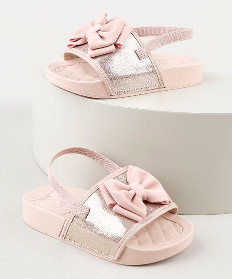 Chinelo-Slide-Infantil-Molekinha-com-Laco-Rosa-9941845-Rosa_1