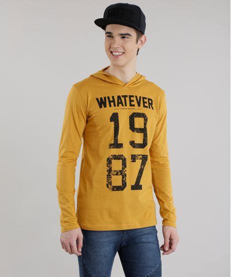Camiseta-com-Capuz--Whatever-Human-Nature--Caramelo-8630450-Caramelo_1