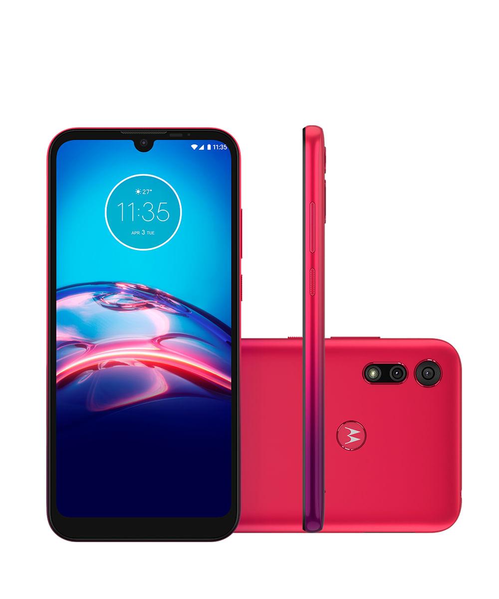 Smartphone Motorola XT2053 Moto E6S 32GB Vermelho Magenta