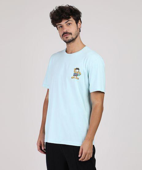 Camiseta-Masculina-Garfield-Manga-Curta-Gola-Careca-Verde-Agua-9870714-Verde_Agua_1