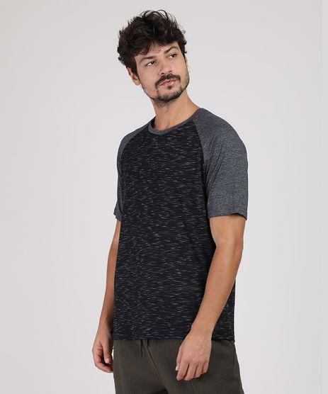 Camiseta-Masculina-Raglan-Flame-Manga-Curta-Gola-Careca-Preta-9937231-Preto_1