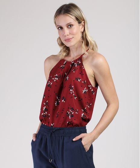 Regata-Feminina-Halter-Neck-Ampla-Estampada-Floral-Vermelha-Escuro-9877137-Vermelho_Escuro_1