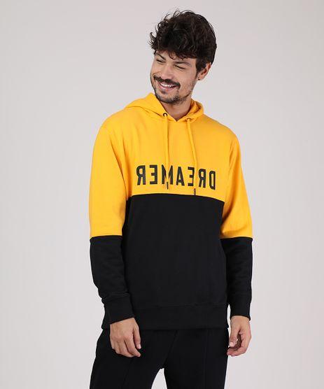 Blusao-Masculino-em-Moletom-com-Recorte-e-Capuz-Amarelo-9799251-Amarelo_1
