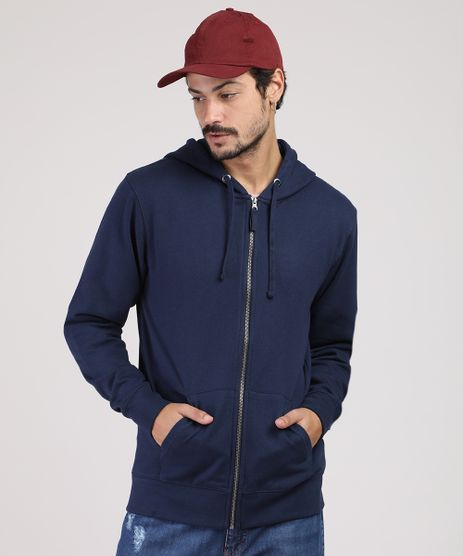 Blusao-Masculino-Basico-em-Moletom-com-Capuz-e-Bolso-Azul-Marinho-9828994-Azul_Marinho_1