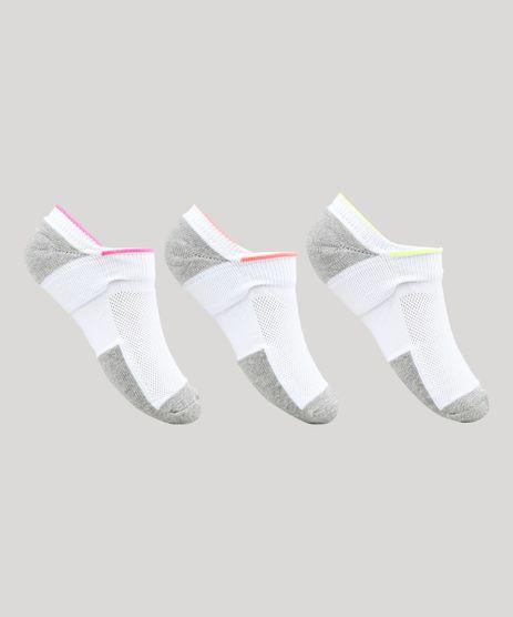Kit-de-3-Meias-Femininas-Invisiveis-Esportivas-Ace-Neon-Branca-9697438-Branco_1