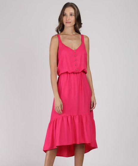 Vestido-Feminino-Midi-Mullet-com-Botoes-Alca-Media-Pink-9941729-Pink_1