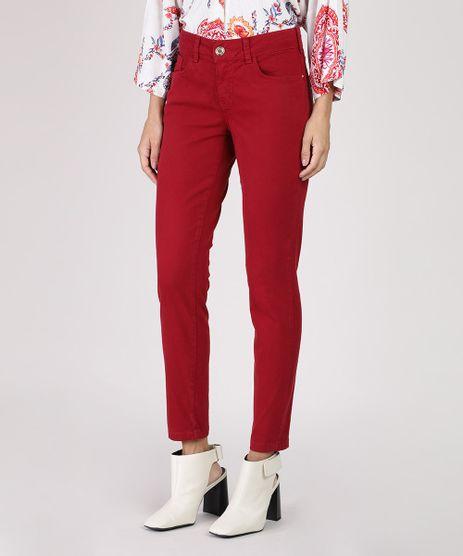 Calca-de-Sarja-Feminina-Skinny-Cintura-Media-Vermelha-9936081-Vermelho_1