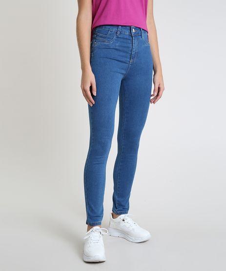 Calca-Jeans-Feminina-Sawary-Skinny-Clochard-Levanta-Bumbum-Cintura-Alta-Azul-Escuro-9945300-Azul_Escuro_1