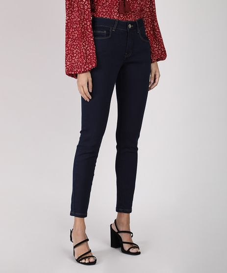Calca-Jeans-Feminina-Super-Skinny-Cintura-Media-Azul-Escuro-9936078-Azul_Escuro_1