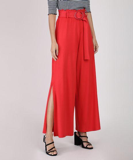Calca-Feminina-Pantalona-Clochard-Cintura-Super-Alta-com-Fenda-e-Cinto-Vermelha-9941793-Vermelho_1