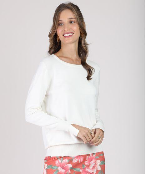 Sueter-Feminino-em-Trico-Decote-Redondo-Branca-9818305-Branco_1