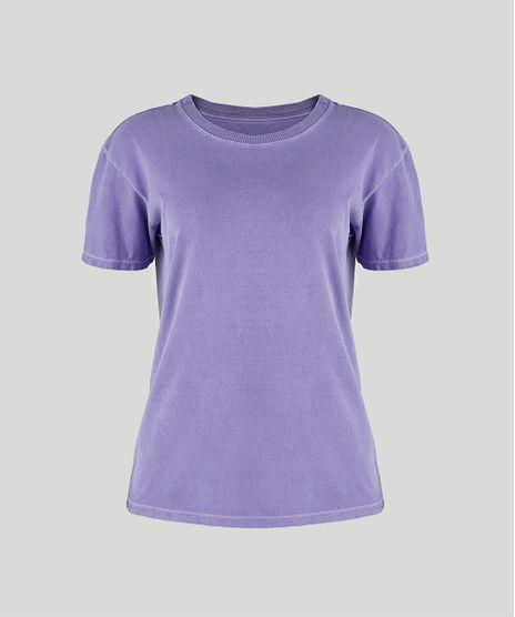 T-Shirt-Feminina-Mindset-Manga-Curta-Decote-Redondo-Roxa-9948970-Roxo_1
