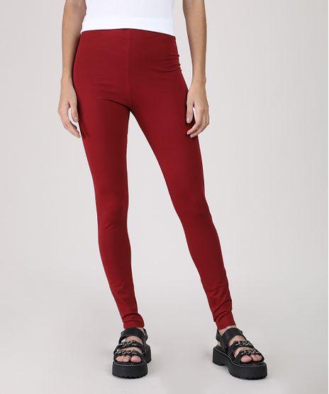 Calca-Legging-Feminina-Basica-Cintura-Alta-Vermelha-Escuro-8556340-Vermelho_Escuro_1