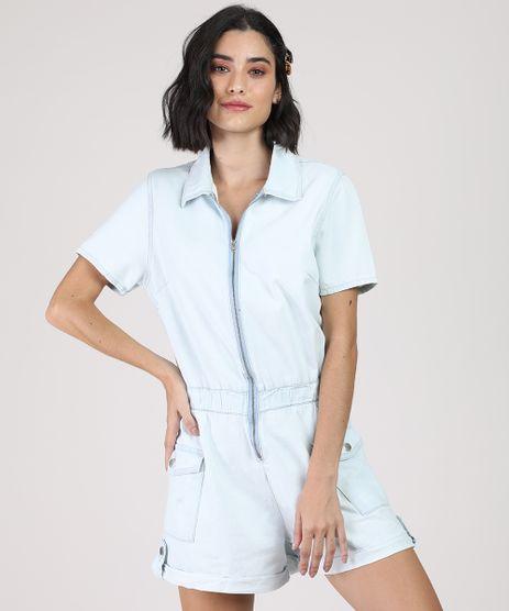 Macaquinho-Jeans-Feminino-com-Ziper-Manga-Curta--Azul-Claro-9944880-Azul_Claro_1