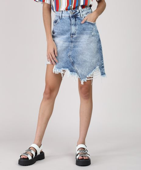 Saia-Jeans-Feminina-Curta-Assimetrica-Destroyed-Azul-Medio-9945392-Azul_Medio_1