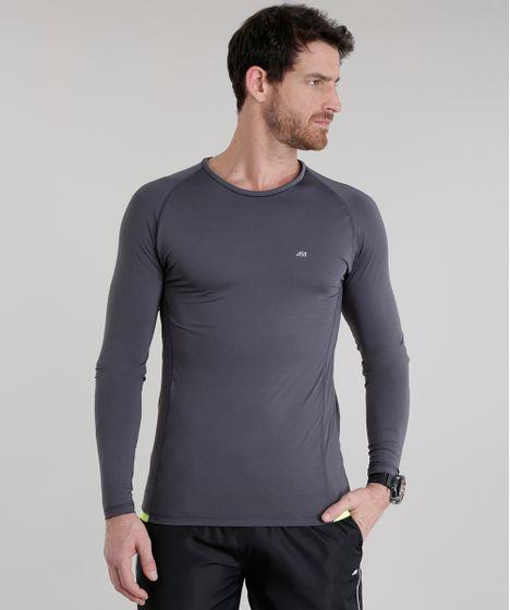 d827a1df80 Camiseta Ace Basic Dry com Proteção UV 50+ Chumbo - cea