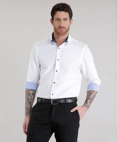ea9cc3fba8 Camisa-Slim-em-Algodao---Sustentavel-Branca-8579502- ...