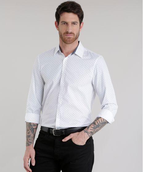 Camisa-Slim-Estampada-em-Algodao---Sustentavel-Branca-8582726-Branco_1