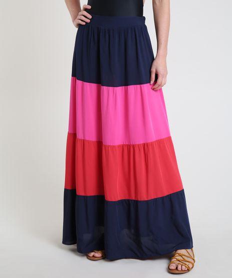 Saia-Feminina-Longa-Color-Block-com-Recortes-Azul-Marinho-9887841-Azul_Marinho_1
